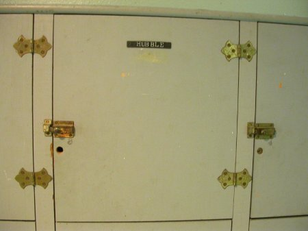When you go downstairs from the observing deck to use the restroom, you go past a bank of lockers. The names include Zwicky and Minkowski. This one belonged to Edwin Hubble.
