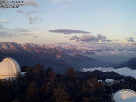 View from the Mt Wilson towercam.