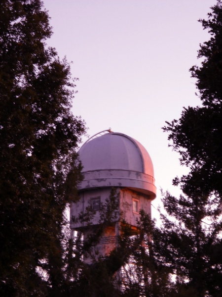A closer look at the solar telescope, which was the first operational telescope on Mt Wilson. Hale used this scope to discover the Sun's magnetic field.
