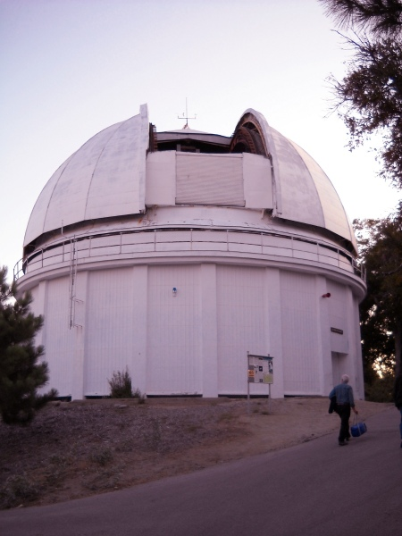 Here we go--the dome of the 60-inch telescope.