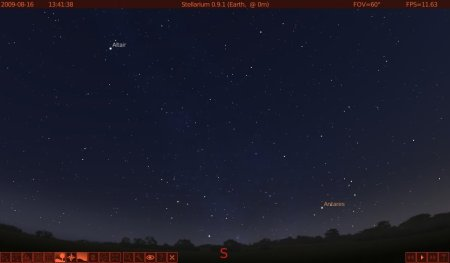 Antares just after sunset from southern England.