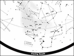 Detail of a free star chart from S&T