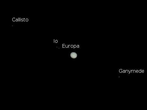 Jupiter and moons Sept 4 2009 480
