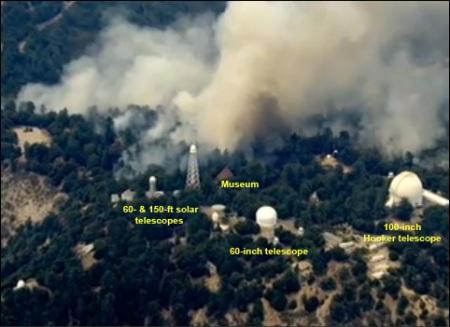 Mt Wilson fire Sept 1