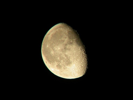 Waning gibbous moon in 15x70s