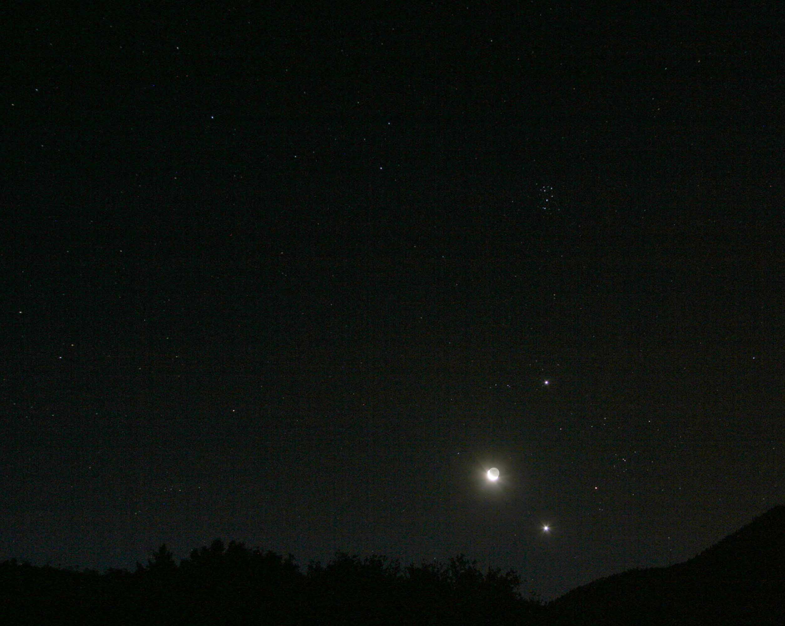 mars with naked eye