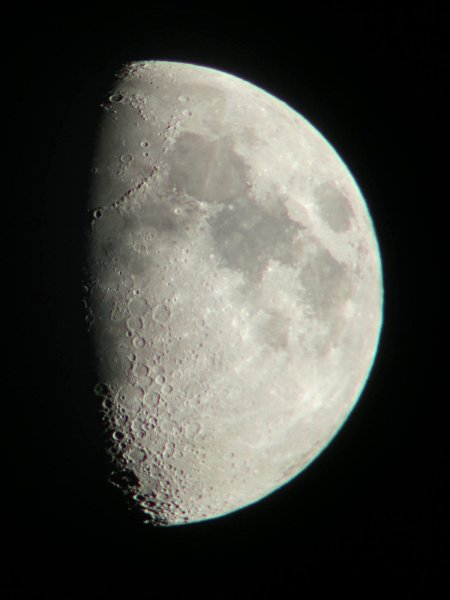 TS70 waxing gibbous moon 2013-10-12