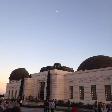 2014-11-01 Griffith Park 3 - moon over the observatory
