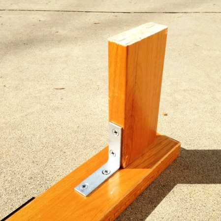 DIY dob stand - foot close-up