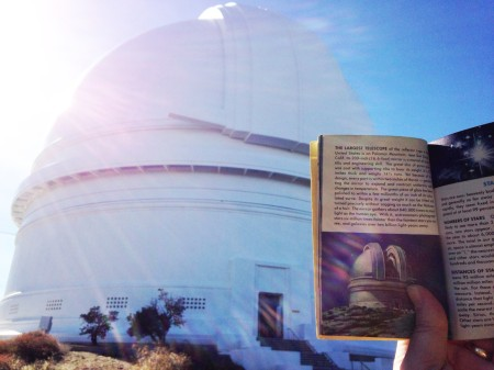 Palomar 2014 - Hale dome with book