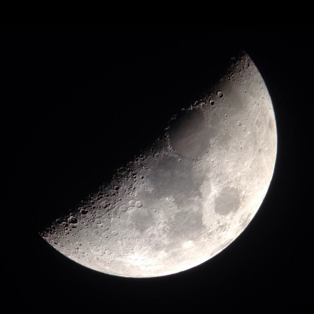 First quarter moon - C80ED and iPhone 5 - 2015-03-26