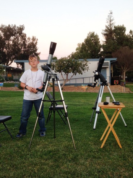 Oakmont astronomy outreach - London with telescopes