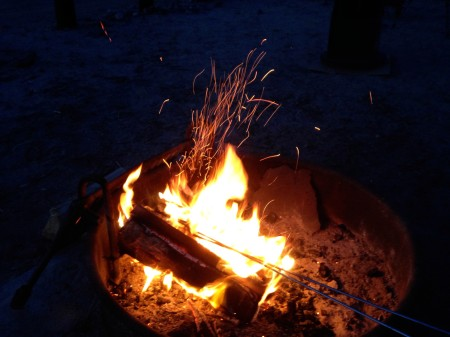 Afton Canyon April 2015 4 - campfire sparks