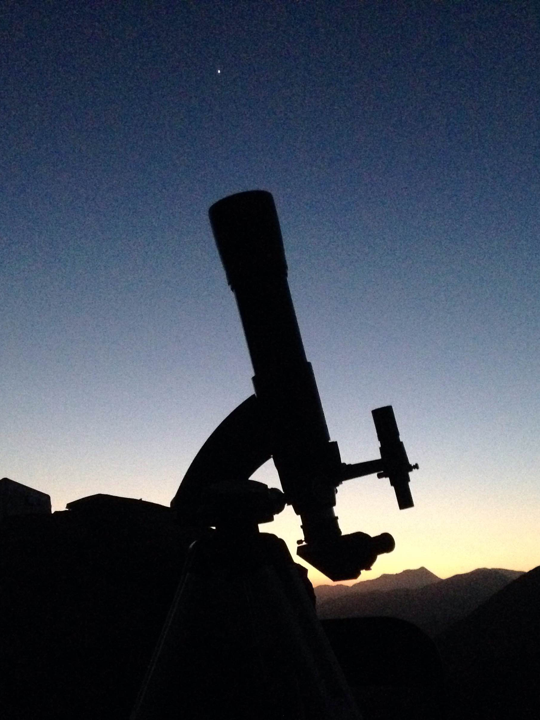 PVAA Mt Baldy Star Party 2015-04-15 C80ED and Venus