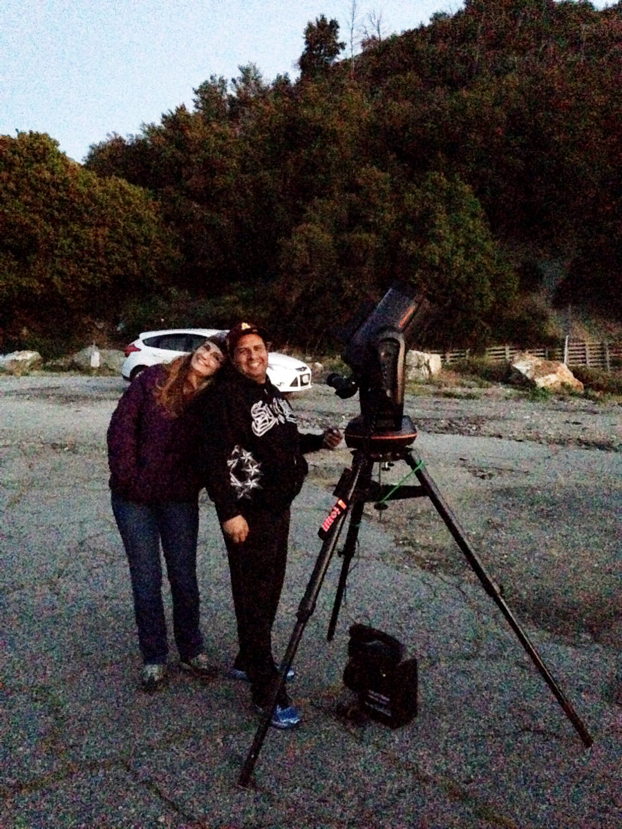 PVAA Mt Baldy Star Party 2015-04-15 Kassandra and Kevin Garcia