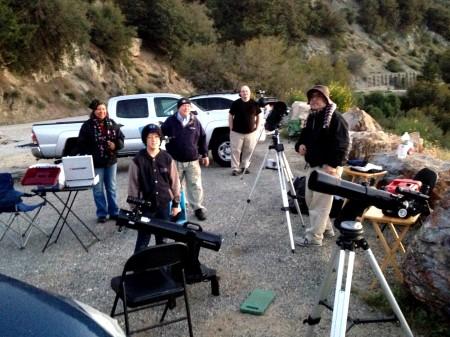 PVAA Mt Baldy Star Party 2015-04-15 west end group
