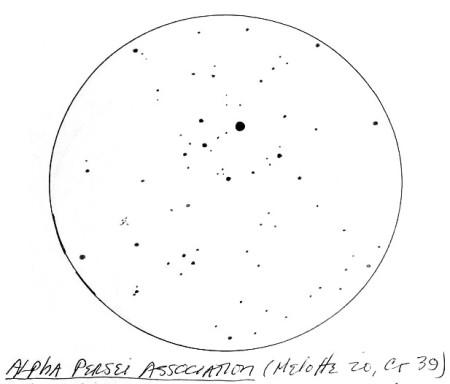Rennie Alpha Persei association - curved