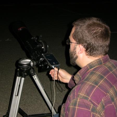 Matt digiscoping moon
