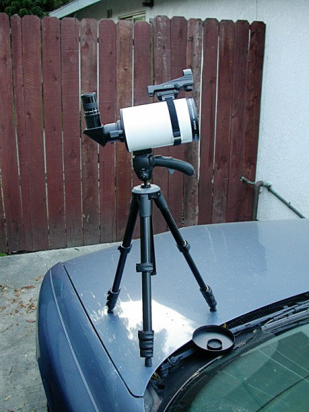 MC 90 set up for birding