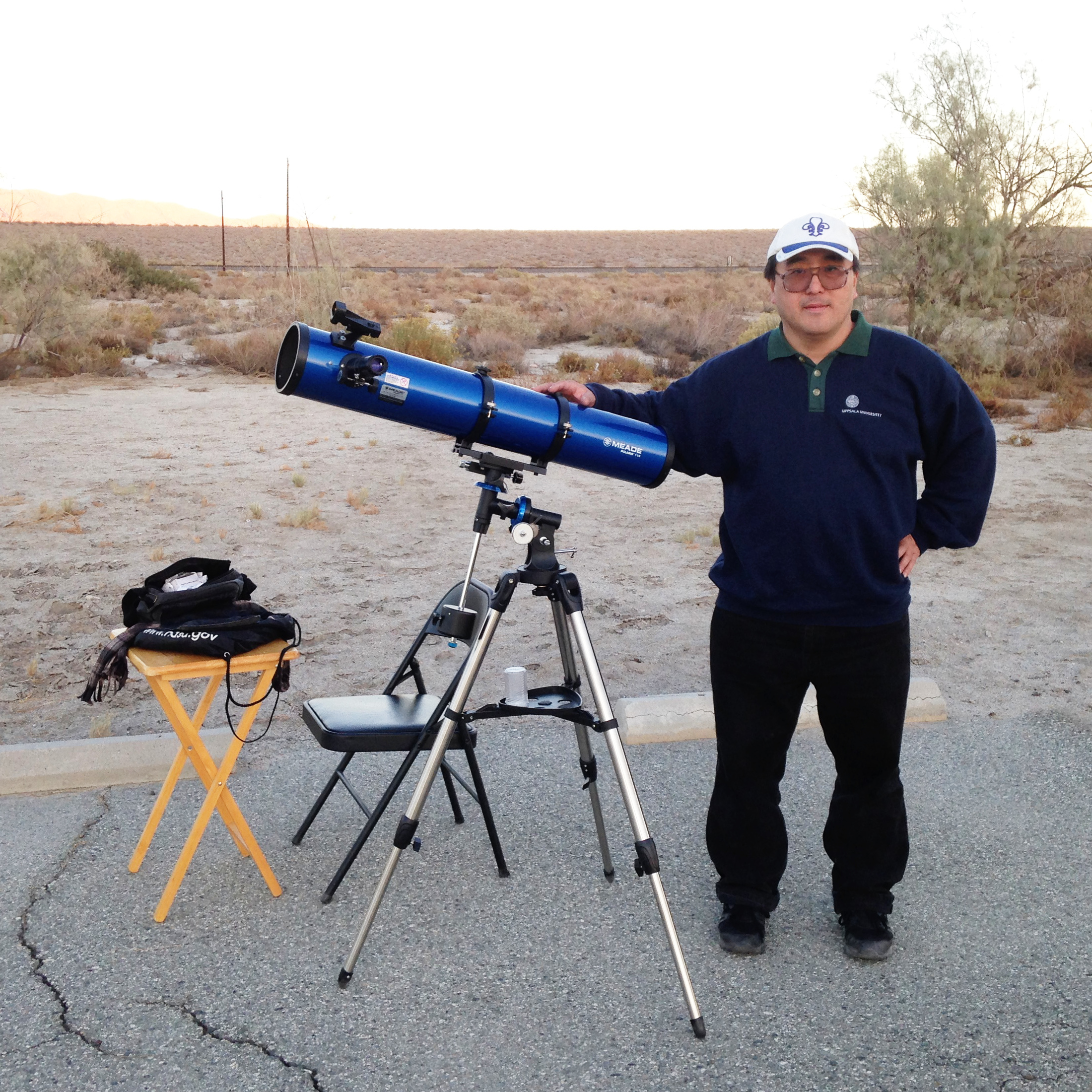 Terry Nakazono with Meade Polaris 114 2015-11-14