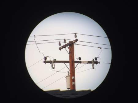 Telephone pole at 15x