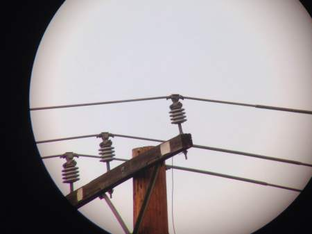 Telephone pole at 45x