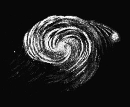 M51 sketch by Lord Rosse