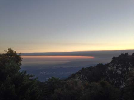 Mt Wilson 11 - LA and smoke from wildfire