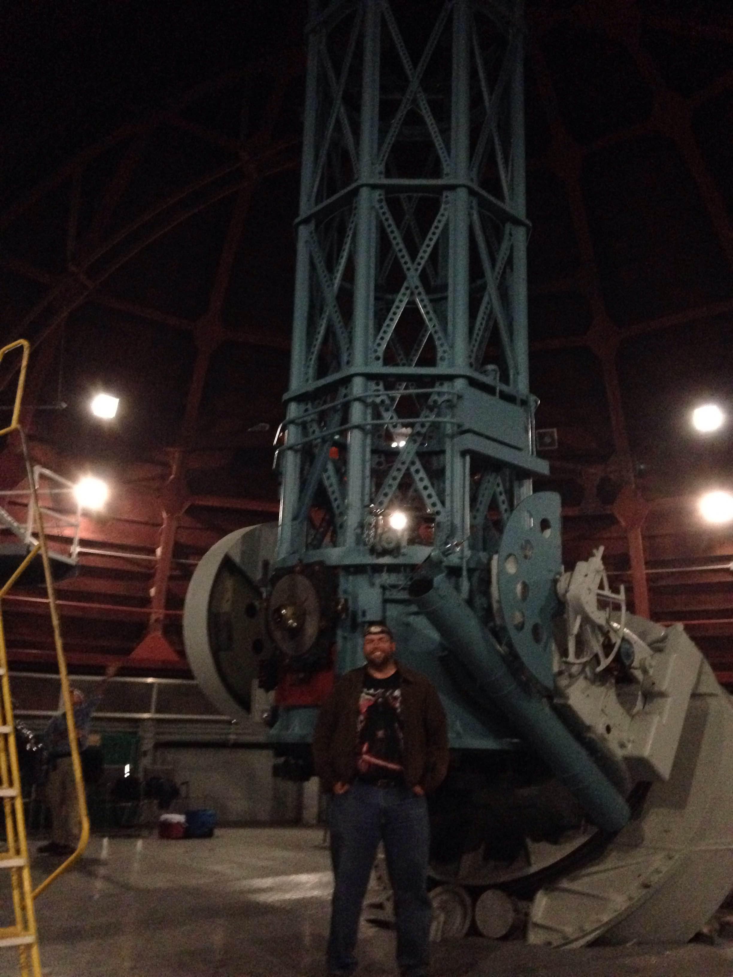 Mt Wilson 17 - Matt with the telescope